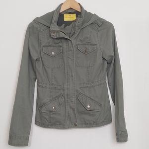 Prince & Fox Army Green Lightweight Cargo Jacket